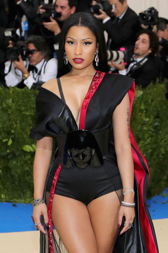 "**Nicki Minaj**  Nicki was asked directly by Ellen DeGeneres about the [rumours she's dating Nas], the rapper. While Nicki admitted the two have had sleepovers, she also said, ""We didn't do the…"" before adding, ""I'm just chillin' right now. I'm celibate. I wanted to go a year without dating any man. I hate men."" After a few more, she said, ""I might make an exception to the rule for him, because he's so dope."""