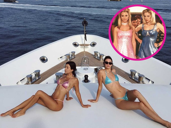 Kourtney Kardashian and Kendall Jenner just tried to recreate Elle Woods' iconic Harvard Video Essay in Cannes, sharing this sexy snap on Insta with the caption '*Legally Blonde vibes*', but ended up channelling *Romy & Michele* instead. Either way, we're totally here for it.