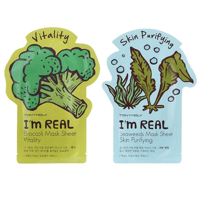 "**The Veggie Revivalists**  TonyMoly I'm Real Mask Sheet Pack Of 11, $10.08, at [Amazon](Https://Www.Amazon.Com/TONYMOLY-Real-Mask-Sheet-Pack/Dp/B00SAT6GVK/Ref=Pd_Bxgy_121_Img_2?_Encoding=UTF8&Pd_Rd_I=B00SAT6GVK&Pd_Rd_R=PAX8D81G8JWQ3KCNMS8D&Pd_Rd_W=Sb18G&Pd_Rd_Wg=Qzcno&Psc=1&Refrid=PAX8D81G8JWQ3KCNMS8D|target=""_blank"")."