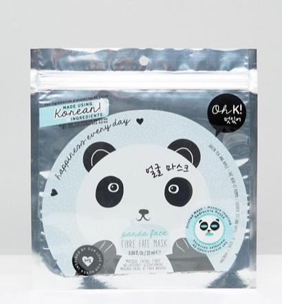 **The Panda Mask**  Oh K! Panda Face Fibre Face Mask, $10, at [Asos](http://www.asos.com/au/oh-k/oh-k-panda-face-fibre-face-mask/prd/6485409?iid=6485409&clr=Facemask&SearchQuery=face%20masks&pgesize=36&pge=0&totalstyles=81&gridsize=3&gridrow=3&gridcolumn=3).