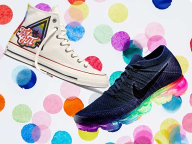 PSA: You can now buy rainbow sneakers to support LGBTQI+ peeps