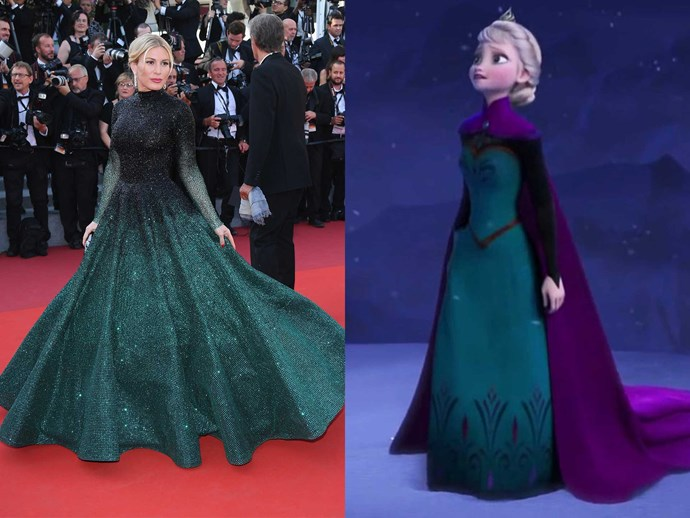 Hofit Golan = Elsa at her coronation.