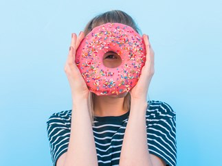 Giant doughnut size of face