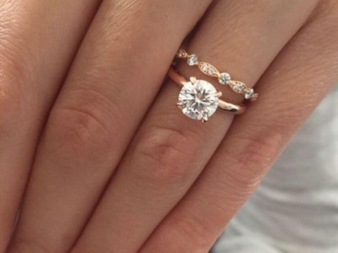 engagement ring diamond pink