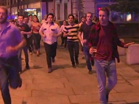 Man runs from London terror attack with pint in hand, becomes internet hero