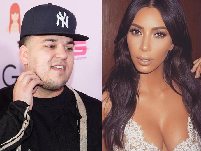 rob kardashian fancies kim kardashian wedding