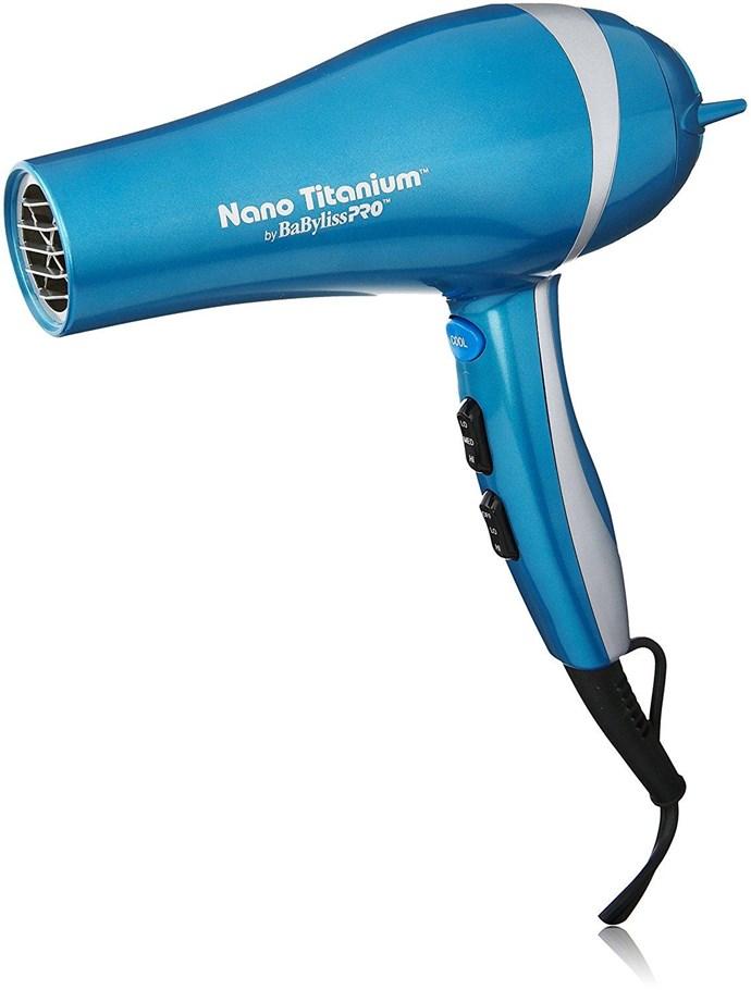 "BaBylissPRO Nano Titanium Dryer, $106.10, at [Amazon](https://www.amazon.com/dp/B001T0HHDS/?smid=ATVPDKIKX0DER&tag=rewardstyle-20&linkCode=df0&creative=395093&creativeASIN=B001T0HHDS&tag=rewardstyle-20&ascsubtag=BUeH9KaGmi-~9Y7ht--2938987079 target=""_blank"")"