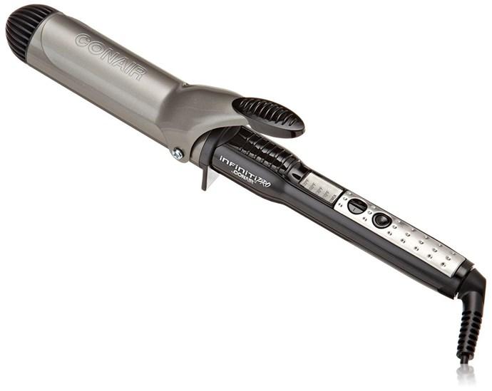"Infiniti Pro by Conair Nano Tourmaline Ceramic Curling Iron; 1 1/2-inch, $28.44, at [Amazon](https://www.amazon.com/dp/B000F5AG5E/?smid=ATVPDKIKX0DER&tag=rewardstyle-20&linkCode=df0&creative=395093&creativeASIN=B000F5AG5E&ascsubtag=MliOIpQ9Ng-~9Y7hk--2938987079&th=1 target=""_blank"")"