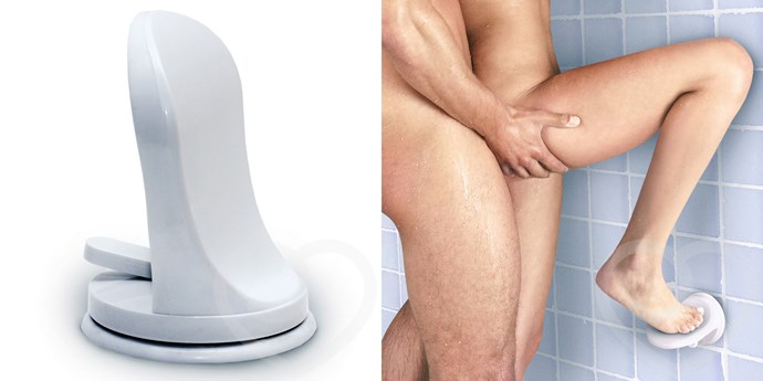 Sex in the Shower Single Locking Suction Foot Rest, $26.95 from [Lovehoney](https://www.lovehoney.com.au/product.cfm?p=16716)