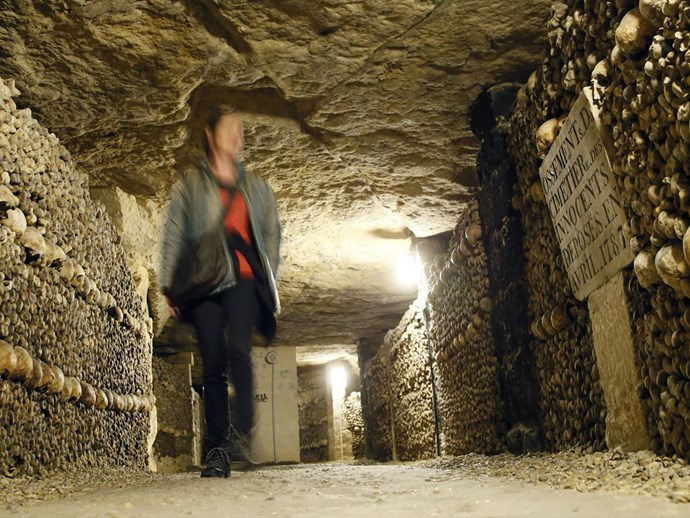 teenagers in catacombs