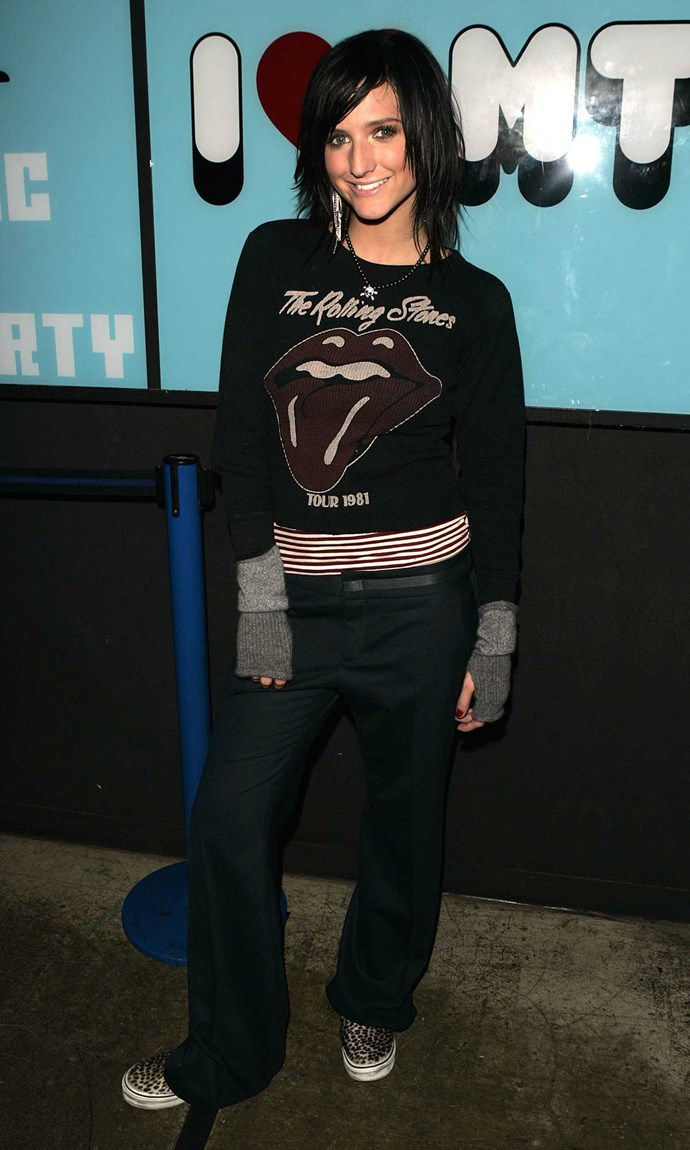**6. The Emo Kid:** A heavy side fringe and mullet-worthy layers were a MUST, along with black nail polish and fingerless gloves. When you wanted to spice up your black-on-black uniform, you occasionally dabbled with grey and a hint of red.