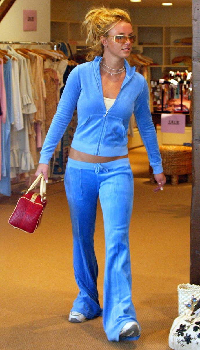 **5. The Britney Bitch:** Britney was the OG '90s/'00s It-girl so, when she stepped out in a low-rise velour Juicy Couture tracksuit set, we all nagged our mums to buy us the exact same one.