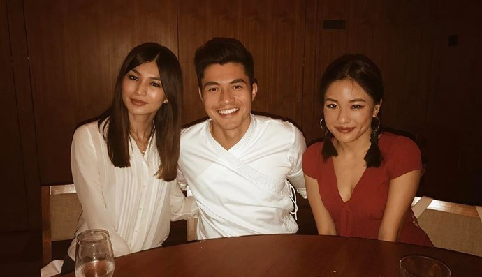 Gemma Chan, Henry Golding and Constance Wu.