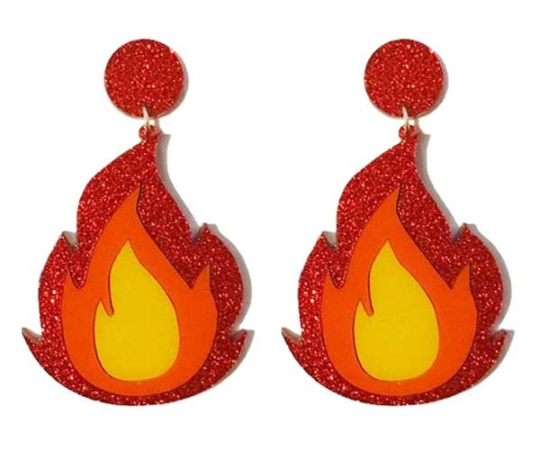 Aaaand some fierce AF emoji bling for when you're feeling full-FIRE. Earrings, [$45](https://www.yippywhippy.com/products/flame-earrings)