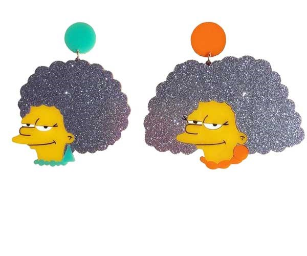 Ol' mates Patty and Selma being their usual *sassy* selves. Earrings, [$60](https://www.yippywhippy.com/products/copy-of-art-deco-diamond-earrings)