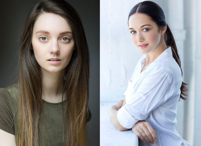 Tanya Reynolds (left) will play Isobel Dunsany and Hannah James (right) her sister Geneva. *Image: STARZ*