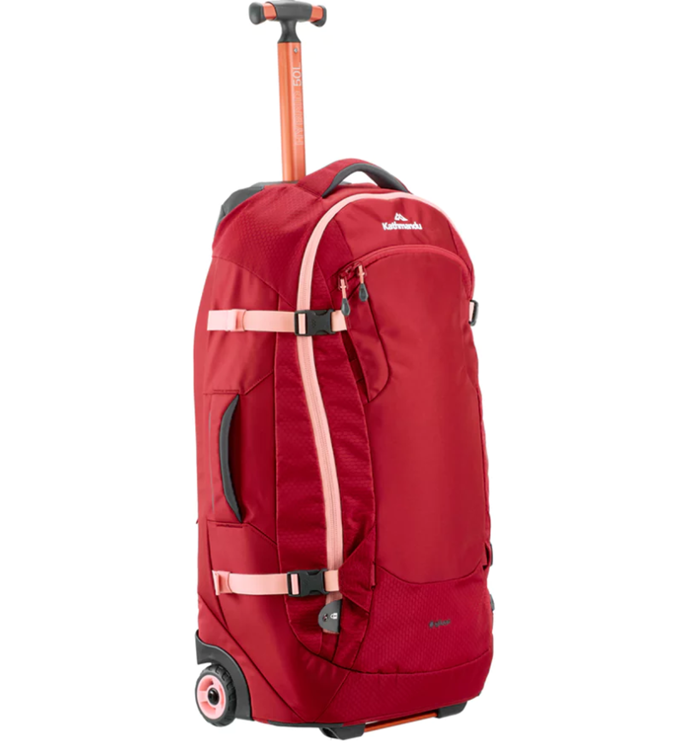 Hybrid 50L Backpack Harness Wheeled Luggage Trolley v3, $249.98, at [Kathmandu](http://www.kathmandu.com.au/hybrid-50l-backpack-harness-wheeled-luggage-trolley-v3.html).