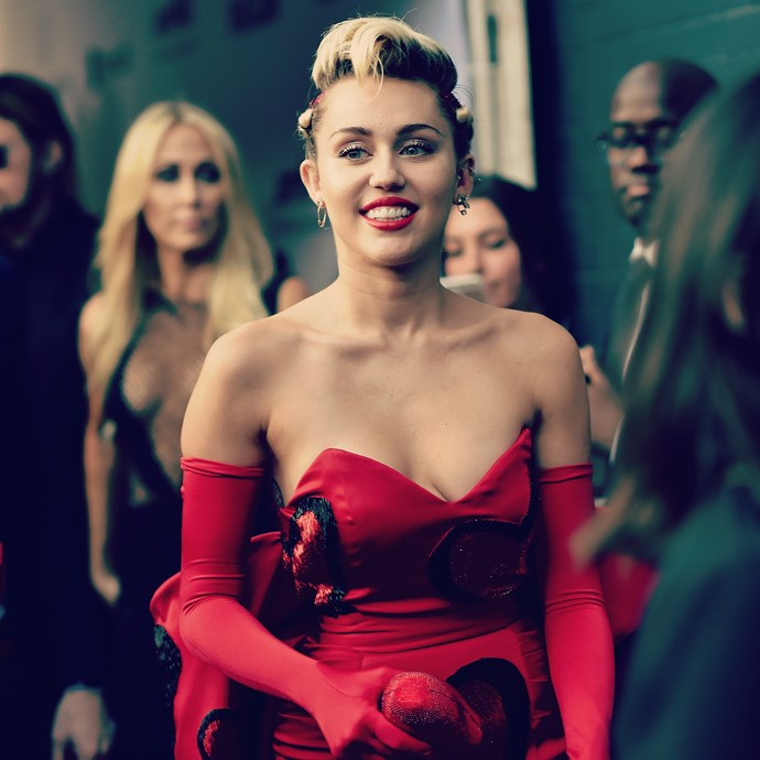 """**Miley Cyrus:** """"I'm just equal. I'm just even. It has nothing to do with any parts of me or how I dress or how I look. It's literally just how I feel ... People try to make everyone something. You can just be whatever you want to be,"""" she told *[TIME](http://time.com/3918308/miley-cyrus-transgender-rights-instapride/)*."""