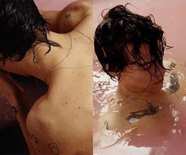 Someone has uncovered the bath bomb used on Harry Styles' album cover