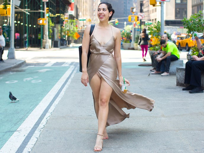 I wore a high-slit dress and got catcalled by a bunch of women