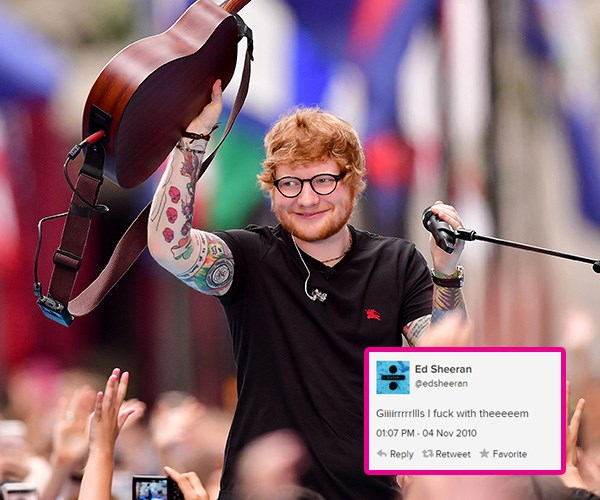 ed sheeran twitter account