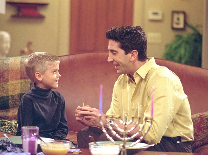 **2001** Cole actually played Ross Gellar's son Ben in *Friends* — bet you forgot about that!