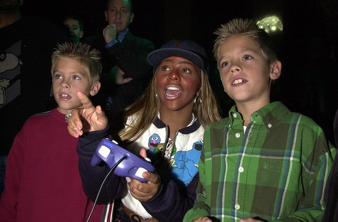 **2002** Throwback to that time Cole and Dylan Sprouse played video games with Lil Kim. Is this the real life? Or is this just fantasy?