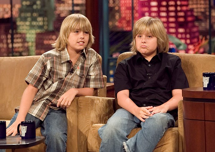 **2006** Cole and Dylan hit up their first talk show on *The Tonight Show with Jay Leno*.