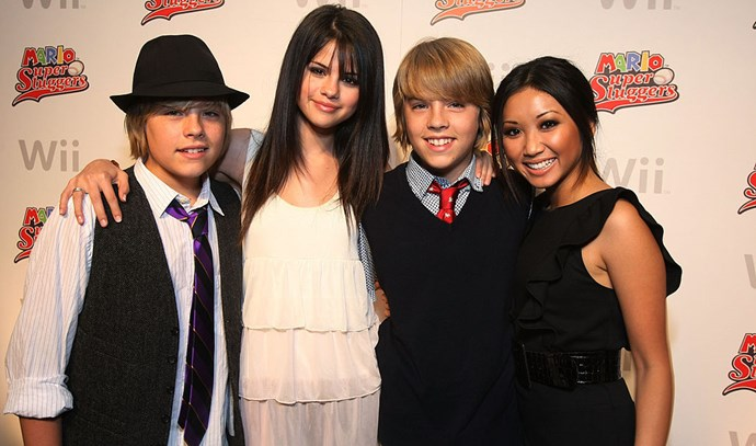 **2008** Making connections with the Disney ladies, Selena Gomez and Brenda Song.