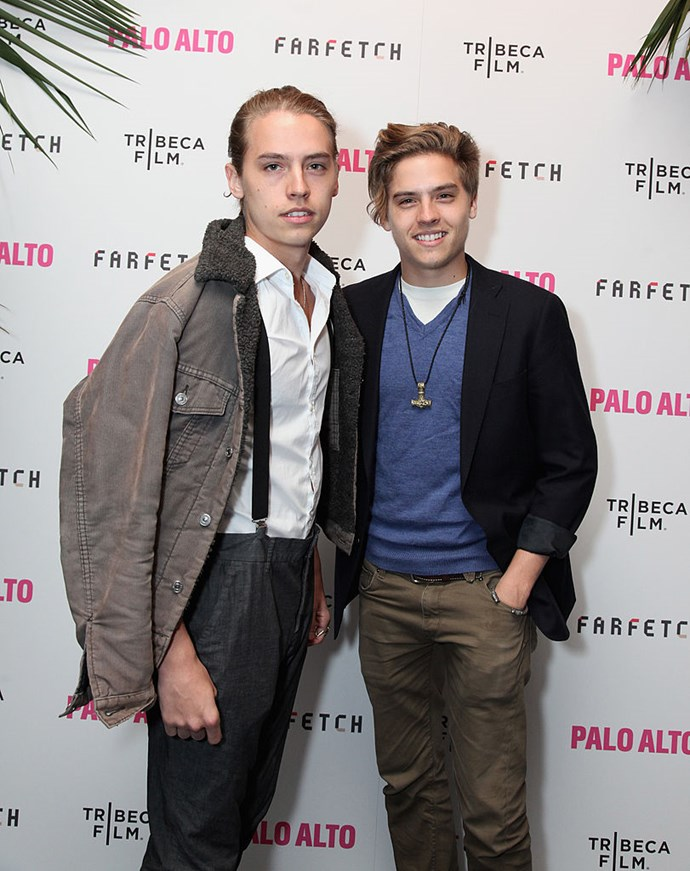 **2014** Cole and Dylan attend the Palo Alto premiere. Can you guess which one is which?