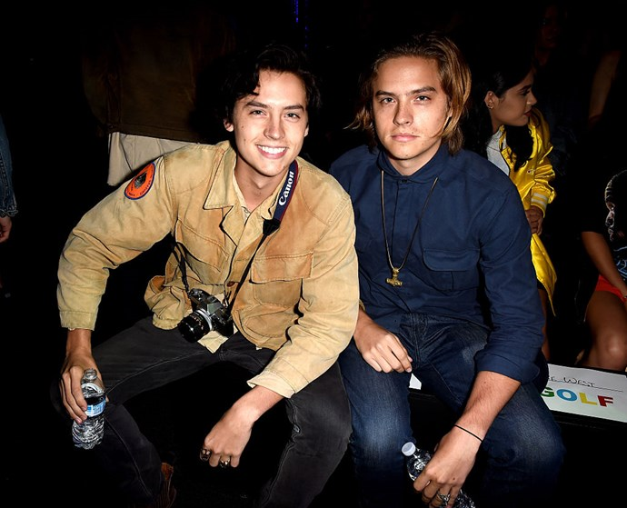 **2016** Cole and Dylan at the Made L.A. party – Cole now sports a dark hair colour, for his Jughead *Riverdale* role, making it a million times easier for us to tell the difference between the twins.