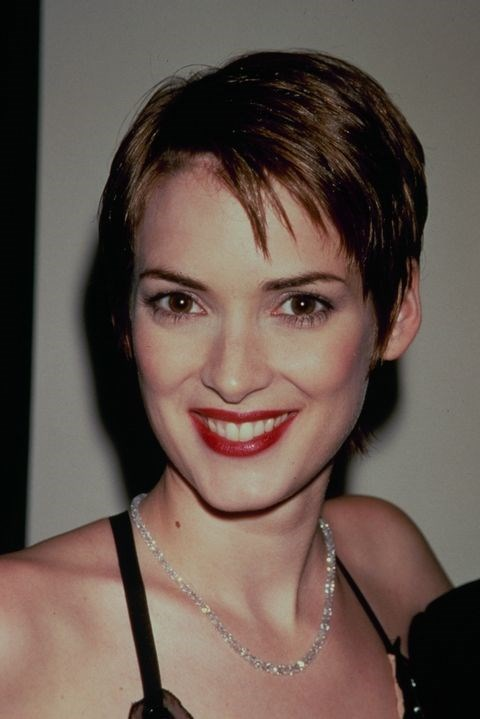 **1991: Choppy pixie** <br><br> Winona Ryder's crop is made *that* much more cool (by '90s standards, at least) with the help of some piece-y texture.