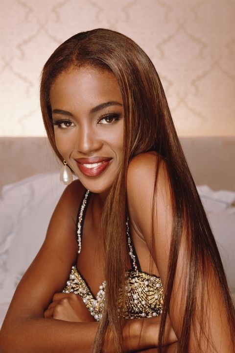 **1992: Super straight** <br><br> Naomi Campbell could be called the originator of mermaid hair, as is evidenced by this early '90s throwback.