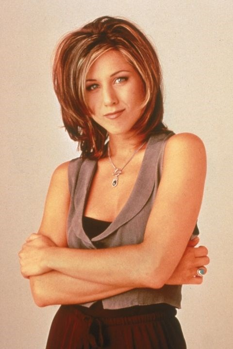 **1995: The Rachel** <br><br> Jennifer Aniston debuted this iconic haircut on *Friends* in 1994. A year later, the rest of the world followed in her layered-hair footsteps.