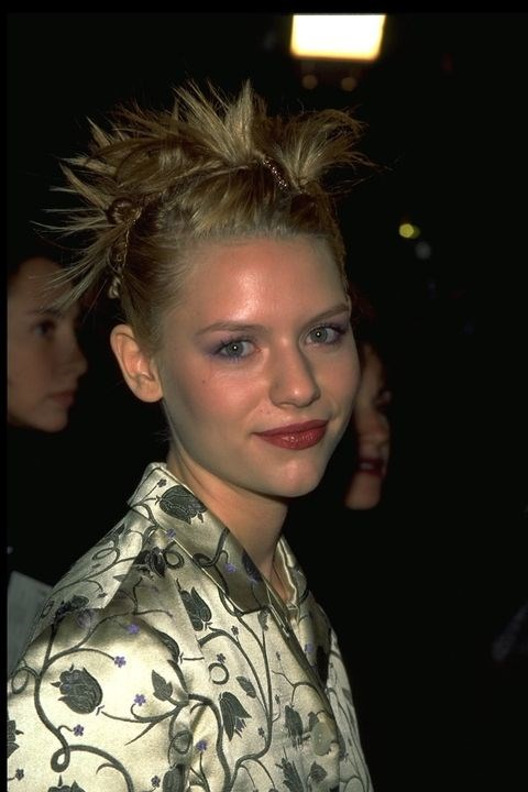 **1996: Spikey updo** <br><br> No dangling ringlets in this updo! Claire Danes made sure the ends of her hair were sticking straight up for a little edge.