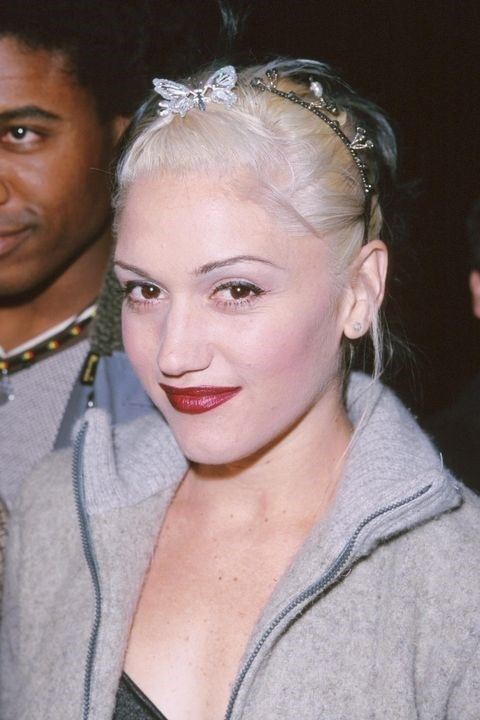 **1999: Butterfly clips** <br><br> Nothing says '99 quite like nostalgic butterfly clips. Gwen Stefani used one to pin back her bangs, but a faux-headband of them was also a prime option.