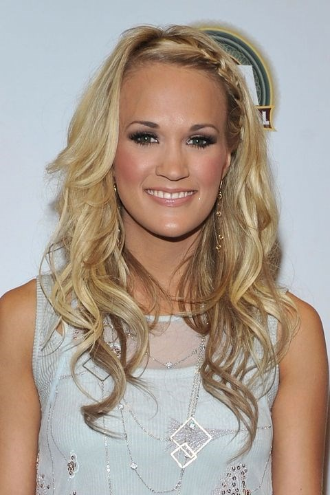 **2010: Hairline braids** <br><br> Like a headband made of hair, Carrie Underwood's French braid is the perfect way to hide your growing-out 2005 bangs.