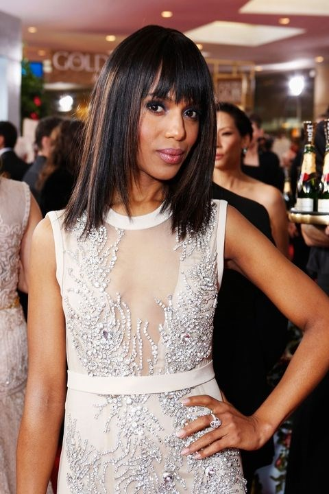 **2013: Lobs** <br><br> Kerry Washington was one of many celebs to choose this medium-length cut this year and for that reason, the term lob (long bob) was coined.