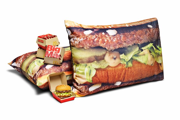 The **pillowcase set**, which you can dream about Big Macs and fall asleep on a Big Mac.