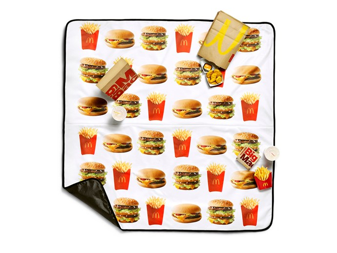 The **picnic blanket**, so you can eat Macca's outdoors in style.