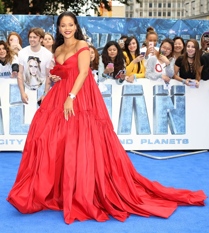 Or this OTT red ball gown, and looked like a Disney princess.