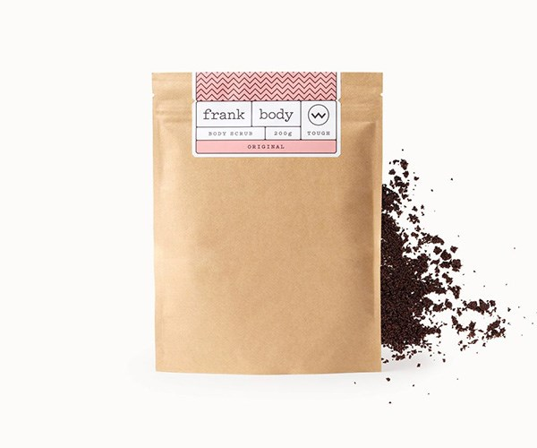 Frank Body Original Coffee Scrub, $16.95, at [Frank Body](https://www.frankbody.com/au/products/original-coffee-scrub/).