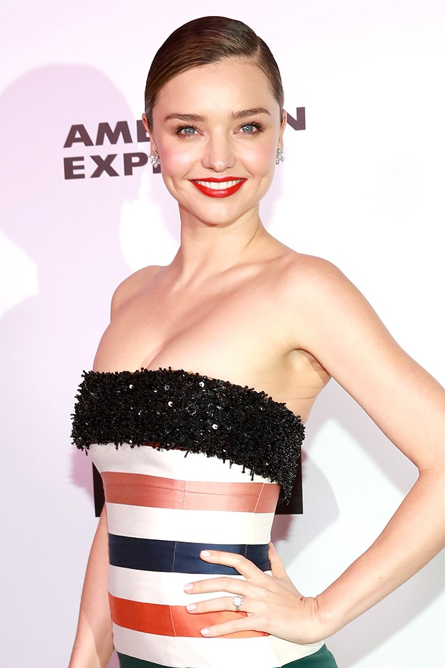 "**Miranda Kerr** <br><br> When Miranda revealed in an interview with [British *GQ*](http://www.gq-magazine.co.uk/girls/gq-girls/miranda-kerr-gq-cover-photos) in 2014 that she was a member of the Mile High Club, she shared more info than she needed about her up-in-the-air sexual antics. ""Let's put it this way, I've had an orgasm in the air before,"" she said. ""Alone. And together."""