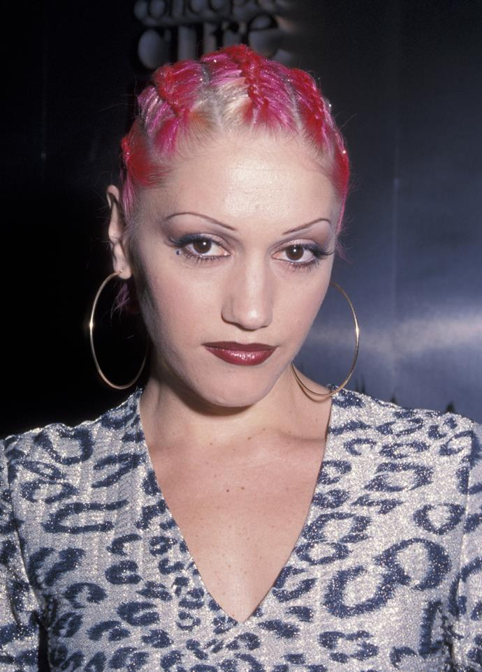 **Eyebrows tweezed within an inch of their life:**  Christina Aguilera and Gwen Stefani were major culprits of this fash faux-pas.