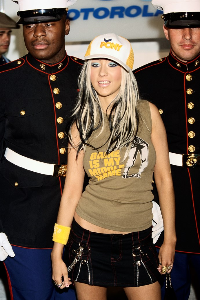 **Two-tone hair:**  It pretty much defined Christina's evolution from innocent girl-next-door to bad grrrl Xtina.