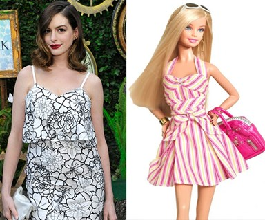 Anne Hathaway is going to play BARBIE in a new movie?! WHUUT?!
