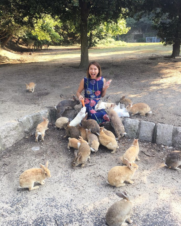 **Rabbit Island — Ōkunoshima Island, Japan** <br> <br> On the little Japanese island of Ōkunoshima there are literally thousands of bunny rabbits — and it is real safe haven for the little floofers as hunting and dogs are banned from the island.  Image: [@chewsoowei](https://www.instagram.com/p/BWw0dNiDbrF/?tagged=okunoshima)