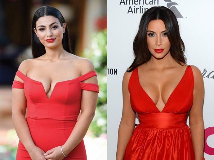 **Laura-Ann Rullo** looks like **Kim Kardashian**.