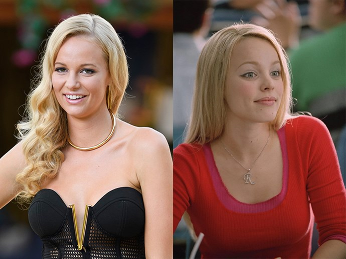 **Leah Costa** looks like **Regina George** from *Mean Girls*.