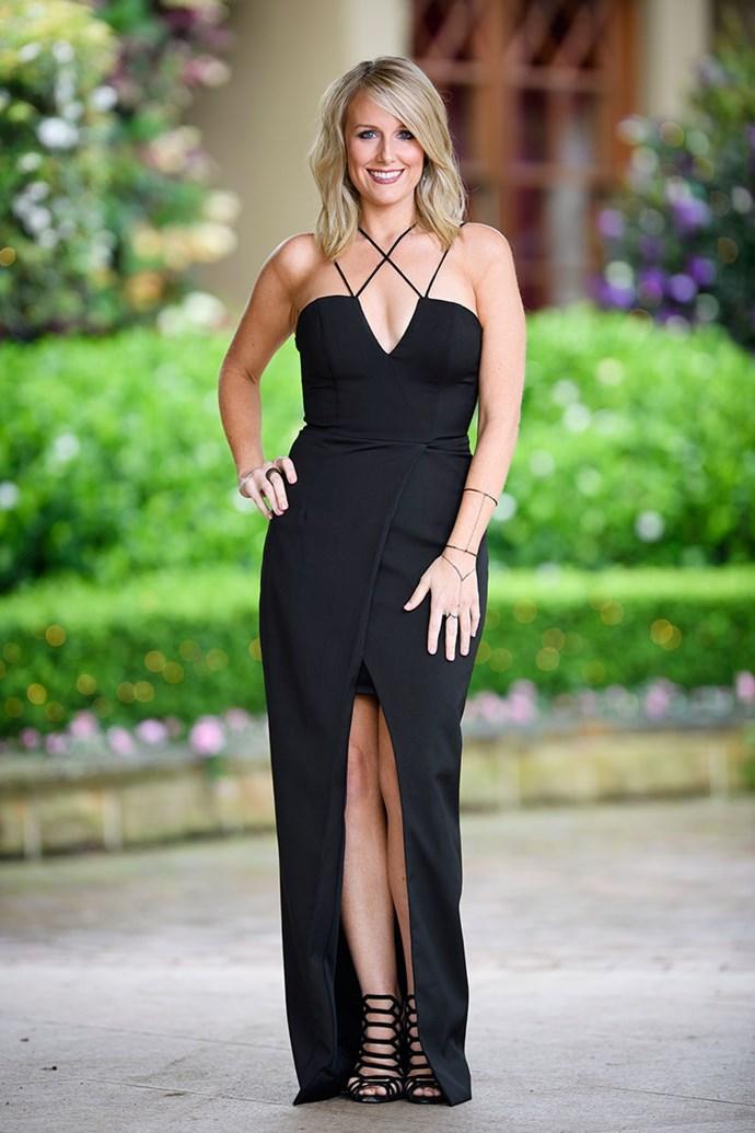 **Belinda** <br><br> Dress: [Bardot](https://www.bardot.com/) <br><br> Shoes: [Tony Bianco shoes](http://www.tonybianco.com.au/) <br><br> Earrings & Bracelets: [Kerry Rocks](https://kerryrocks.com.au/)  <br><br> Earrings, Bracelet & Ring: [Sally Skoufis](http://www.sallyskoufis.com/)